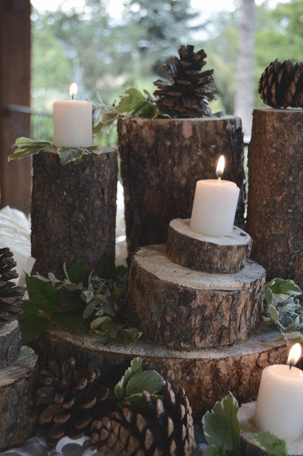 """Wanderlust"" Wood Centerpieces 