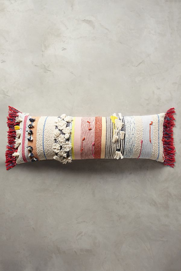 Multi colored bohemian pillow