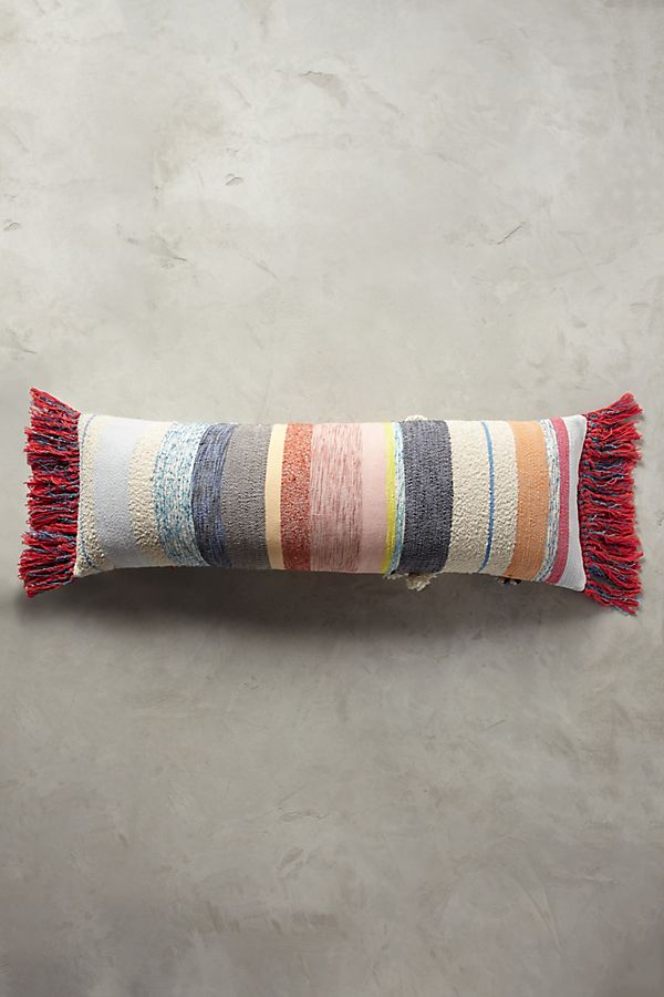 Multi colored decorative boho pillow