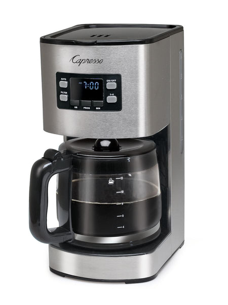 Capresso SG300 12-Cup Stainless Steel Coffee Maker with Glass Carafe