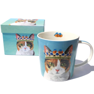 Cat in a Crown Mug with Box