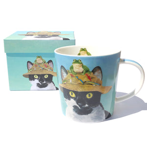 Boxed Cat Hat Mug