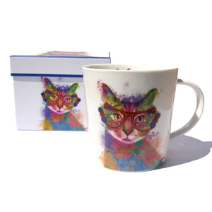 Boxed Rainbow Cat Mug