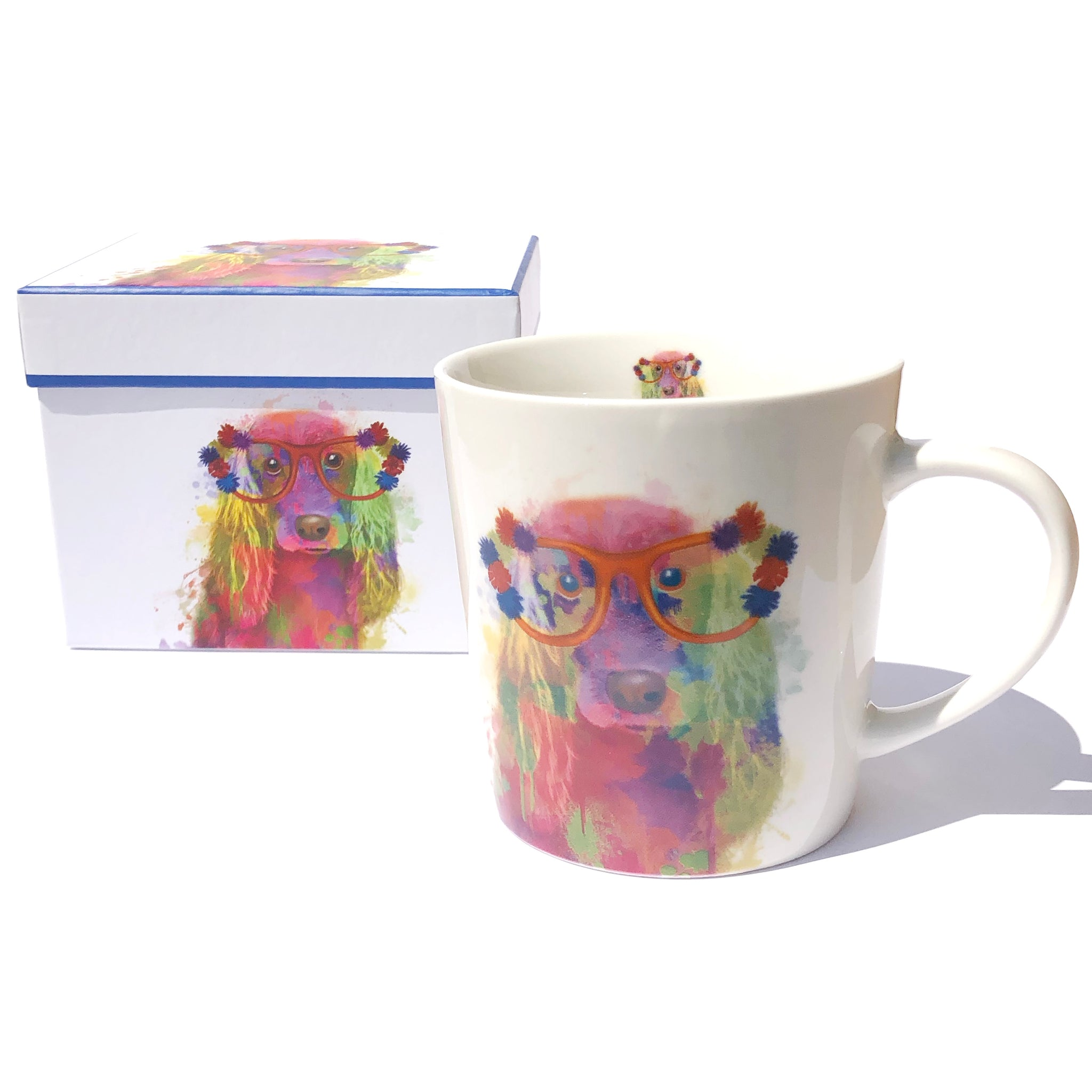 Boxed Rainbow Dog Mug