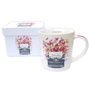"Typewriter ""I Love You"" Mug with Box"