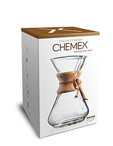 Chemex Classic Series, Pour-Over Glass Coffeemaker, 10 Cup