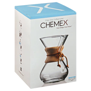 Chemex Classic Series, Pour-Over Glass Coffeemaker, 6 Cup