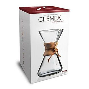 Chemex Classic Series, Pour-Over Glass Coffeemaker, 8 Cup