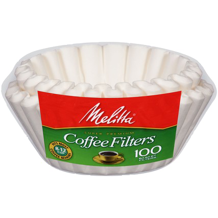 Melitta 8-12 Cup Basket Filter Paper White - 100 Count
