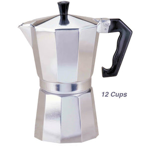 Italian Aluminum Espresso Coffee Maker 12 Cups