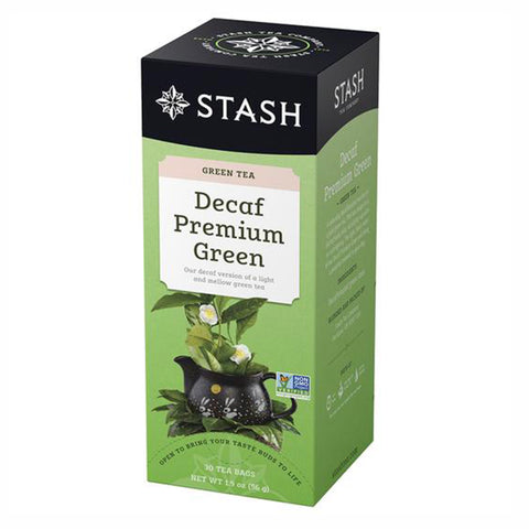 Stash Premium Green Decaf, 30 Tea Bags