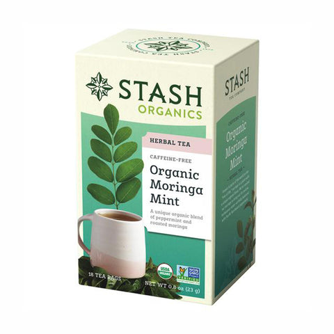 Stash Organic Moringa Mint Black Tea, 18 Tea Bags