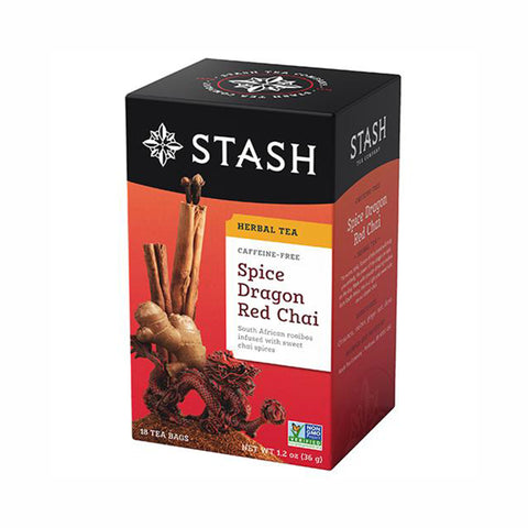 Stash Spice Dragon Red Chai Herbal, 18 Tea Bags