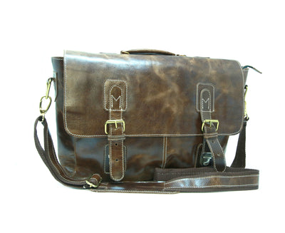 Dark Brown Colour Messenger Laptop Bag