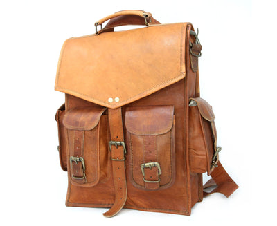 Four Pocket Vintage Style Backpack