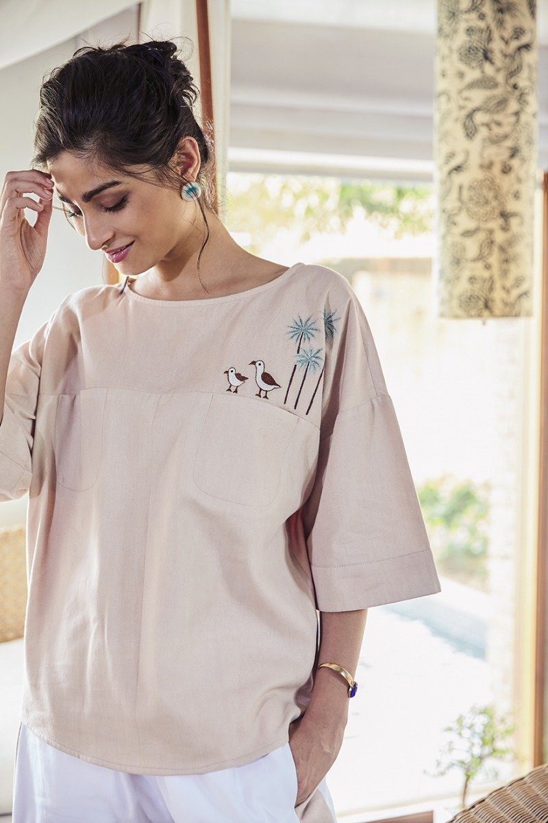 Happy as a Seagull organic cotton top