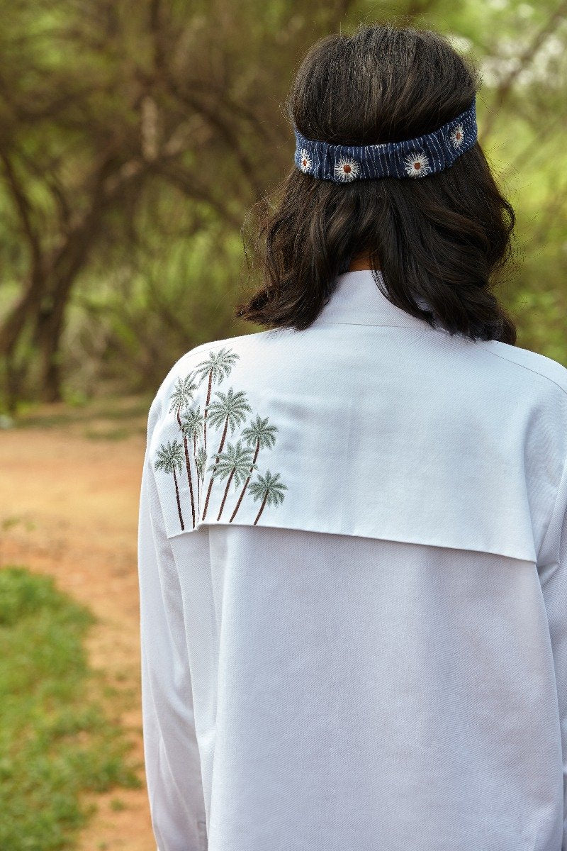 Beneath the Palms organic cotton shirt jacket
