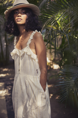 Sui | ANACAPRI embroidered organic cotton khadi strappy shift dress from Granita Summer Collection 2019
