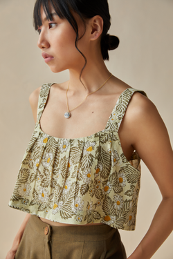 Daisy Moon handwoven organic cotton crop top