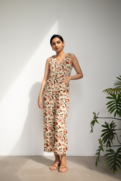 Hibiscusy Tropical tencel jumpsuit
