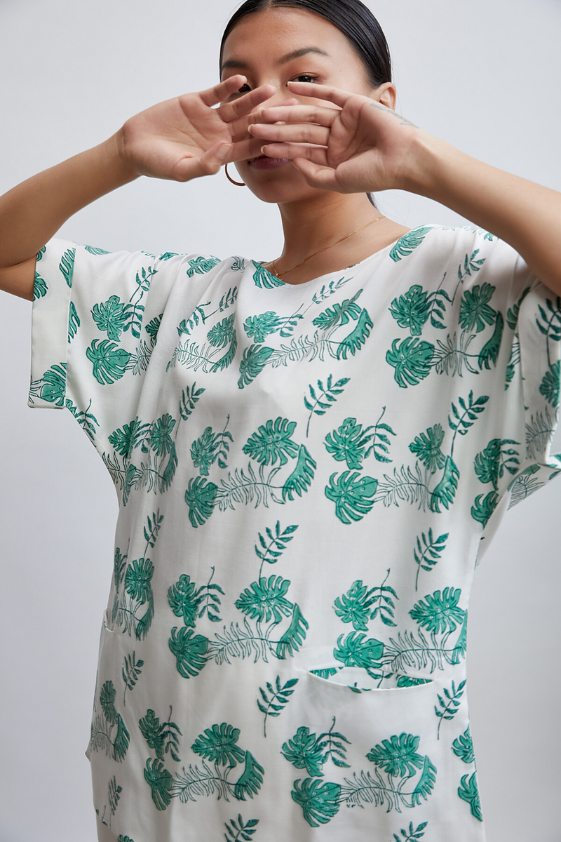Leafy Love tencel top