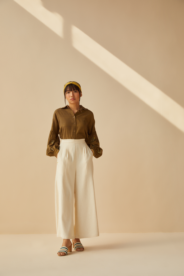 Soulful handwoven organic cotton trousers