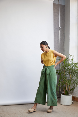 The Botanic handwoven organic cotton trousers