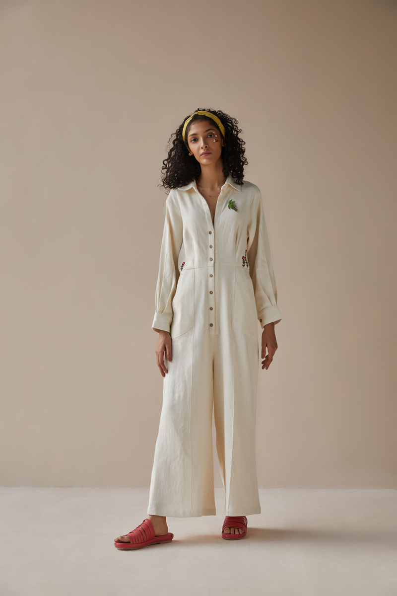 The Cliffside handwoven organic cotton jumpsuit
