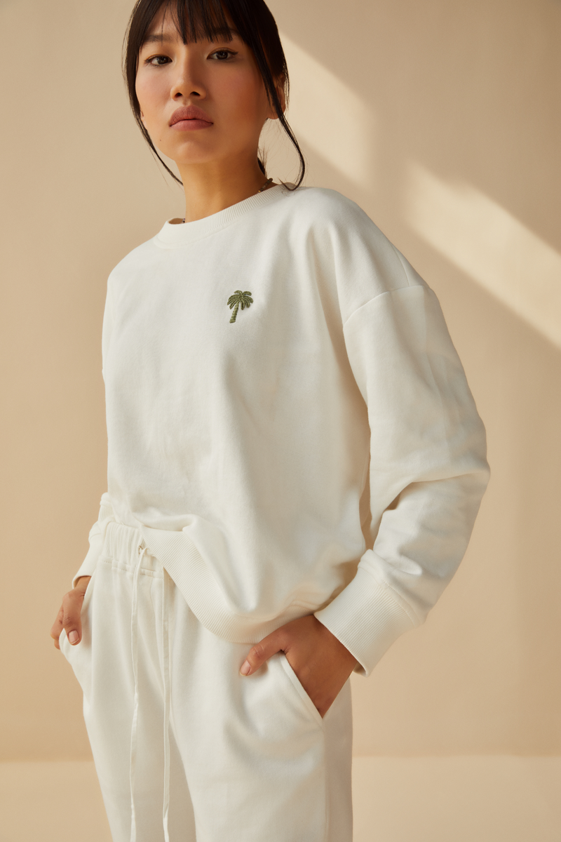 The Palmy organic cotton terry jumper