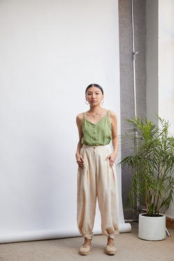 The Weave Easy handwoven organic cotton relaxed trousers