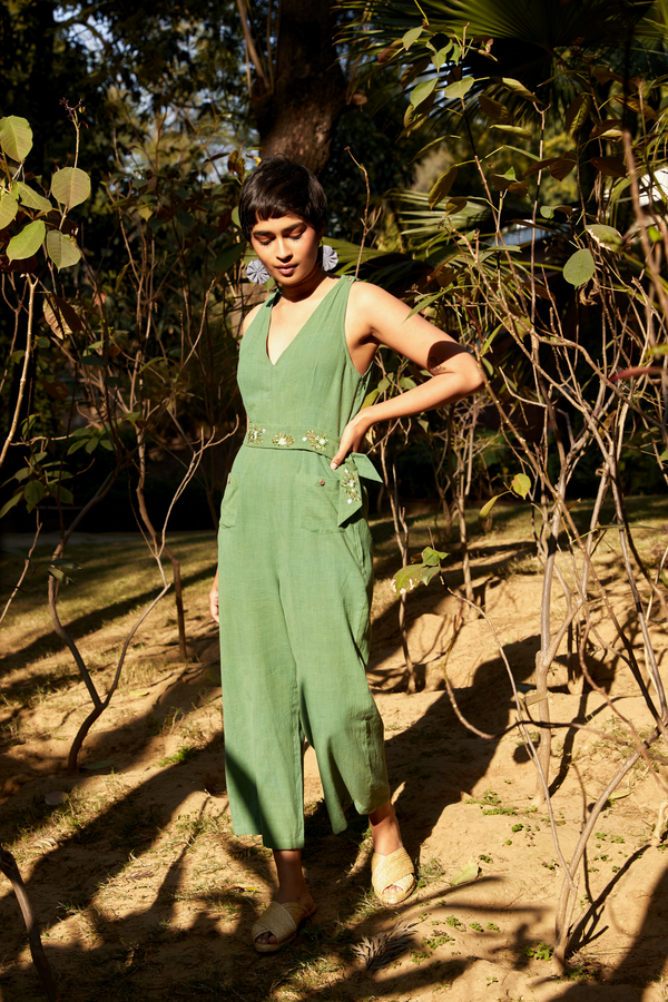 The Tropical handwoven organic cotton jumpsuit