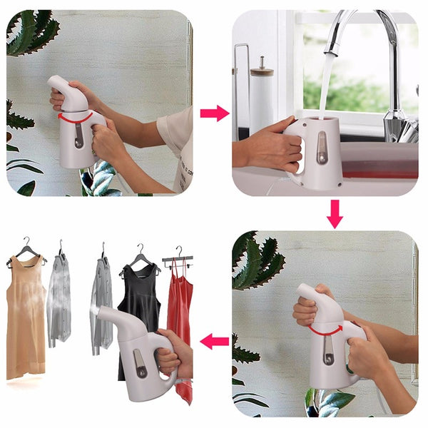 110V 220V New Mini Steam Iron Handheld dry Cleaning Brush Portable Steamers Clothes