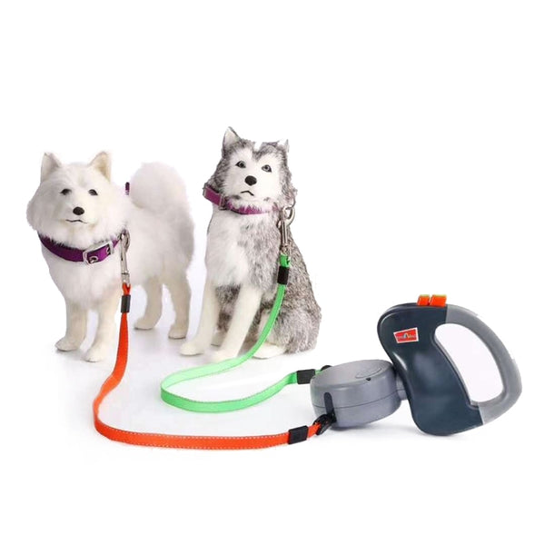 Automatic Retractable Dual Dog Collar
