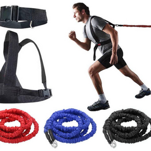 Double Explosive Force Trainer Double resistance band pull rope