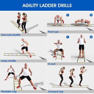 Agility Ladder for Footwork and Speed Drills (Free Shipping)