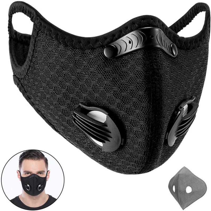 6 Filter Reusable Mask with Replaceable Filters