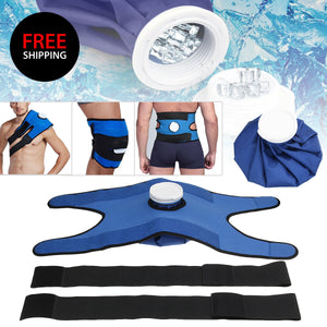 Reusable Ice Pack with Extendable Straps For Knee, Shoulder & Back (FREE SHIPPING)