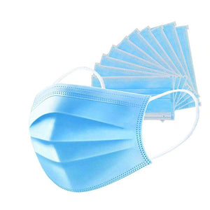 3-layer Face Masks with Elastic Ear Loop Dustproof Anti-bacteria Disposable Protection