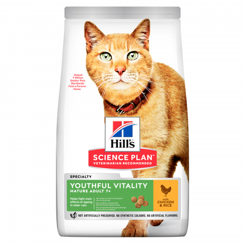 Hill's Science Plan Kissa Youthful Vitality 7+ 1,5 kg