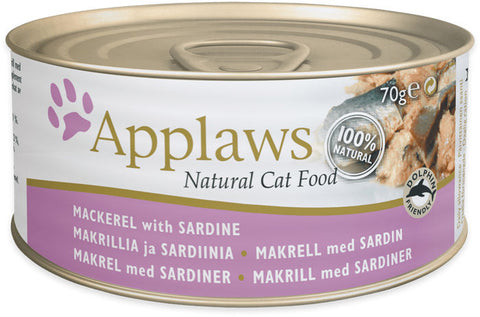 Applaws Kissa Makrilli & Sardiini 70 g  (-29%)