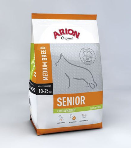 Arion Original Senior Kana & Riisi 12 kg (-10€)