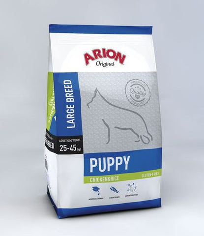 Arion Original Puppy Large Breed Kana & Riisi 12 kg (tilaustuote)