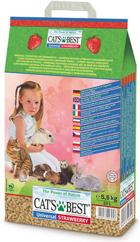 Cat´s Best Universal Kasvikuitupelletti Mansikka 10 l