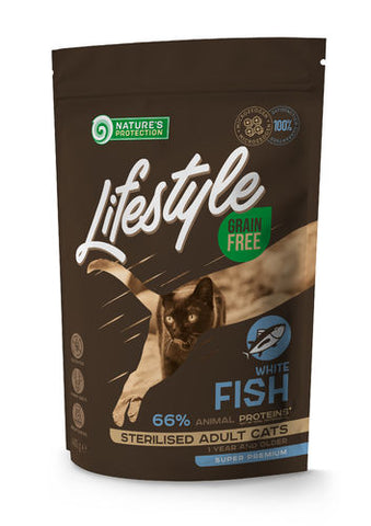 NP Lifestyle Kissa White Fish Sterilised 400 g (-49%)