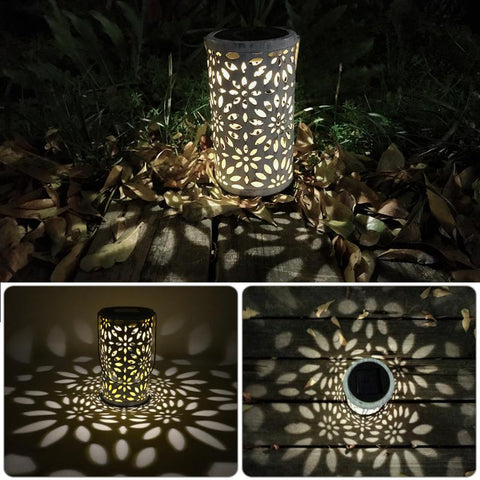 Antique Solar Lantern Indoor Outdoor LED Lamp