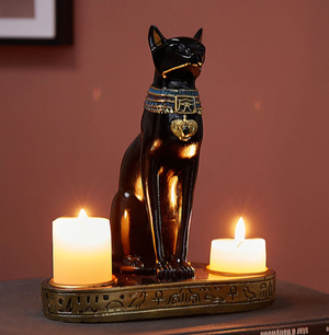 Egyptian Cat Candle Holder