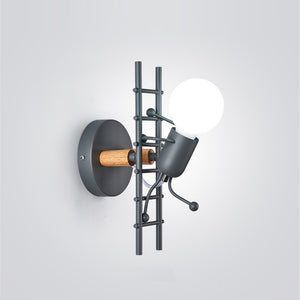 Ladder Man Wall Light