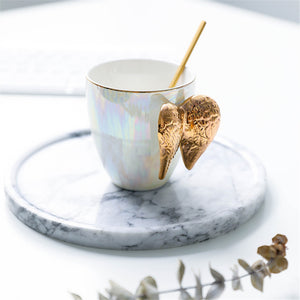 Luxury Ceramic Angel Wings Cup