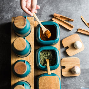 Nordic Style Ceramic Kitchen Condiment set