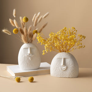 Funny Faces Ceremic Vase